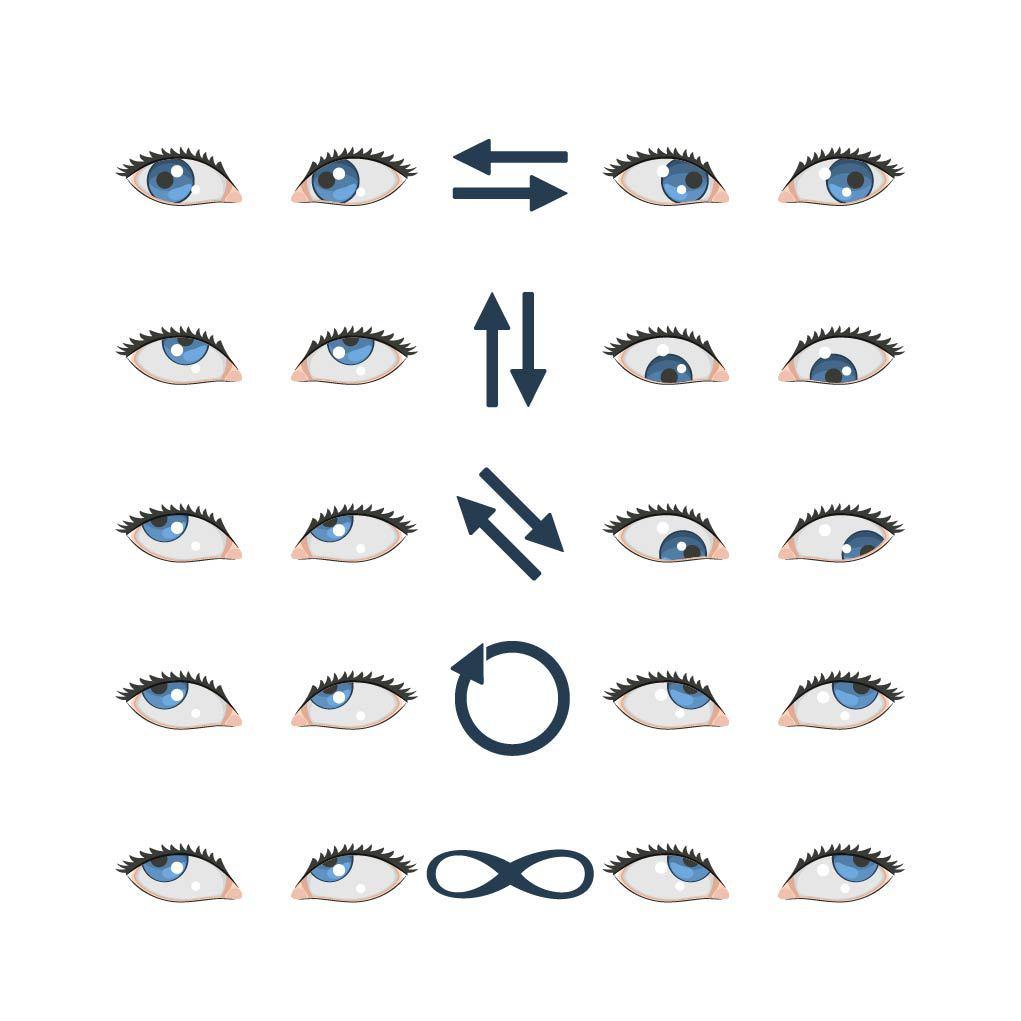 Augenübungen: Augen-Yoga