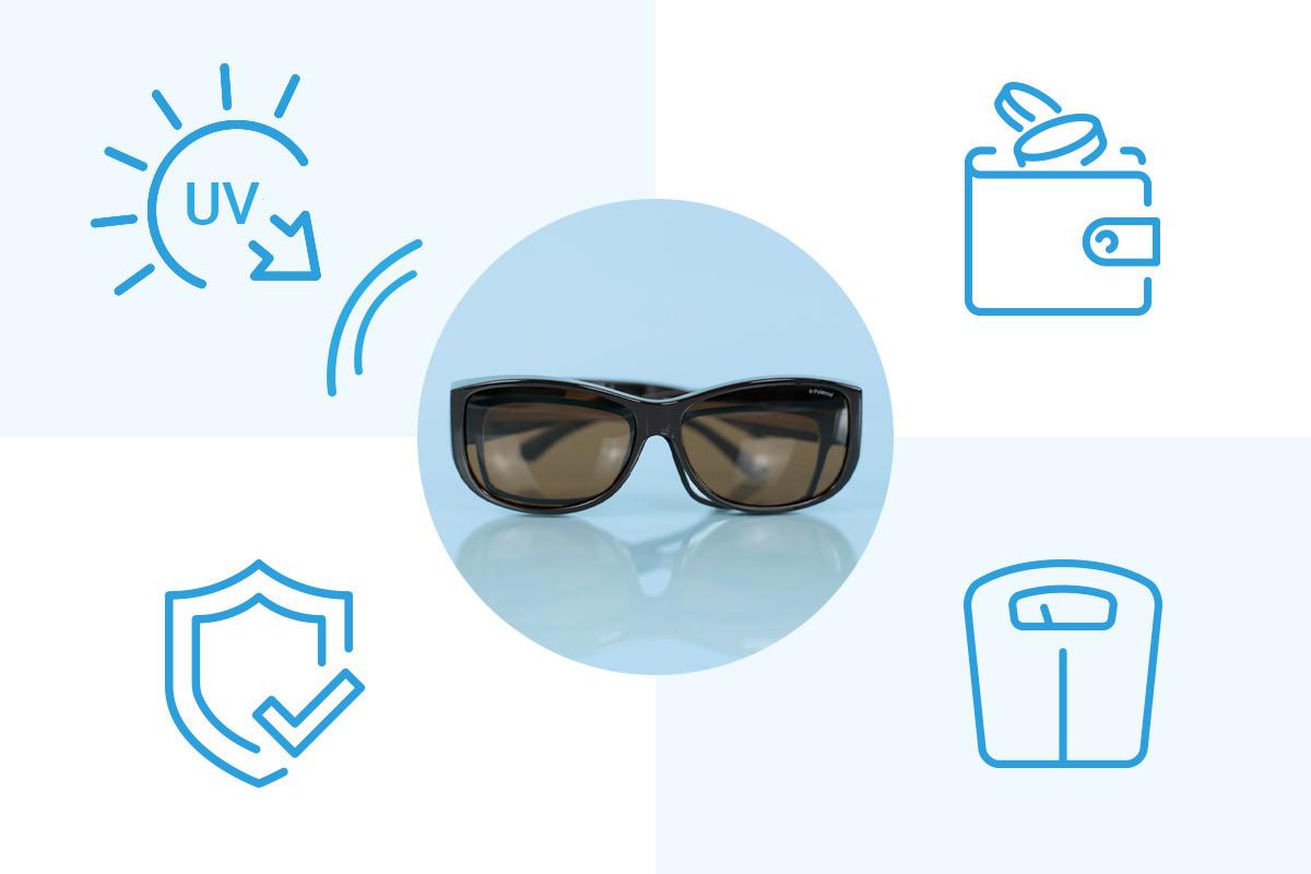 ventajas y desventajas del ajuste sobre las gafas de sol