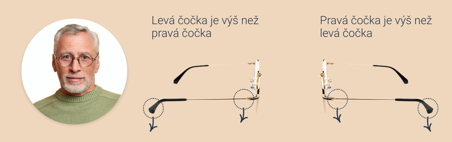 Jak povolit obruby brýlí a nosní opěrky