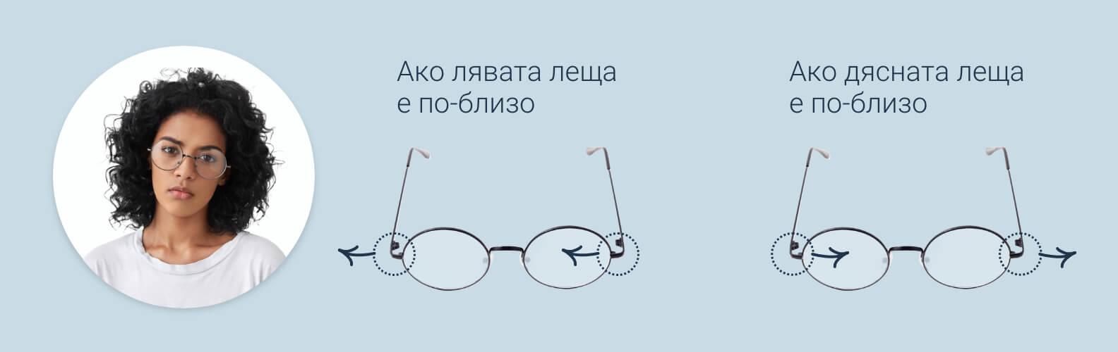Как да разхлабите рамките на очилата и подложките за нос