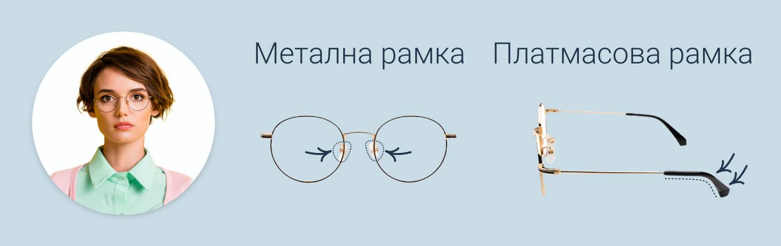 Как да стегнем рамките на очилата и подложките за носа
