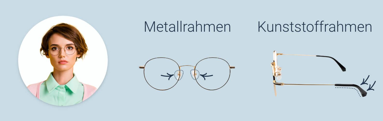 So stellen Sie Brille und Nasenpads ein
