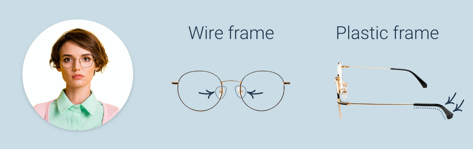 How to tighten glasses frames and nose pads