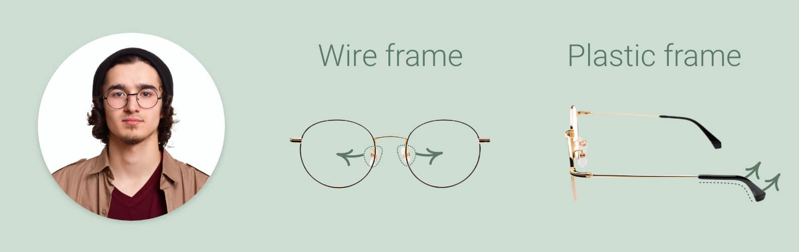 How to loosen glasses frames and nose pads