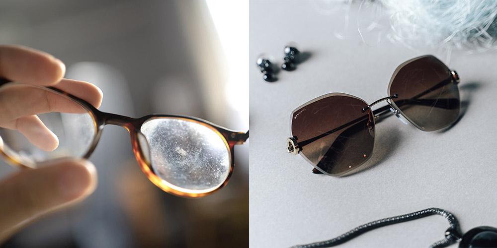 scratched glasses lenses