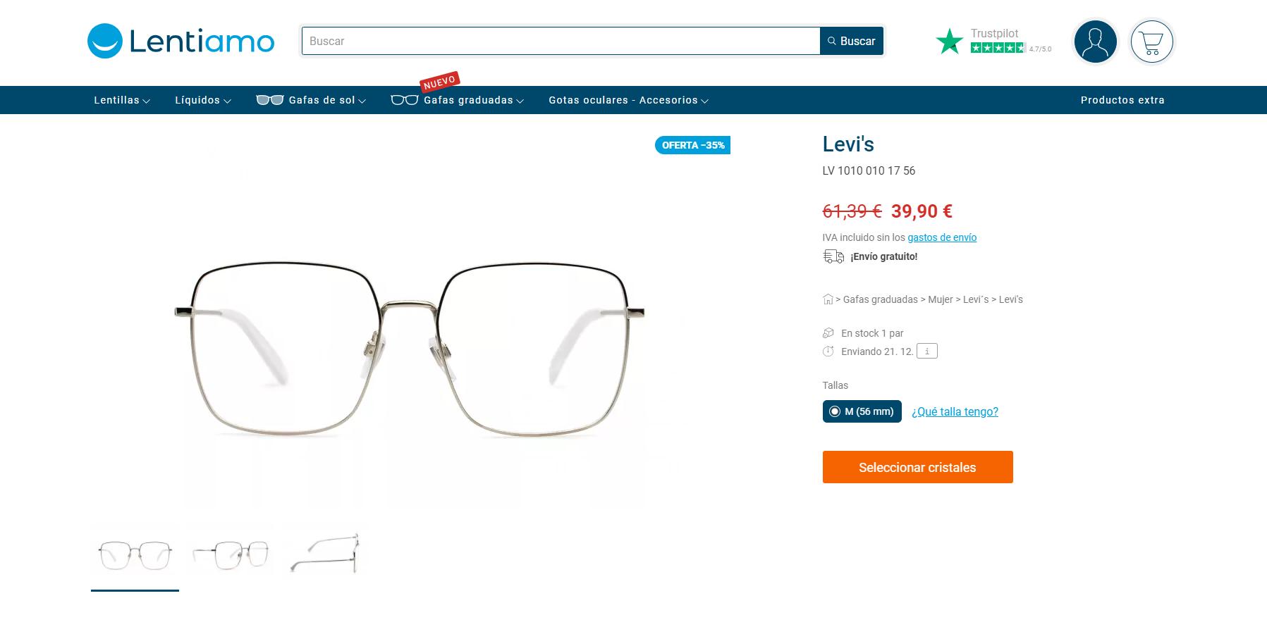 cómo comprar gafas online en Lentiamo