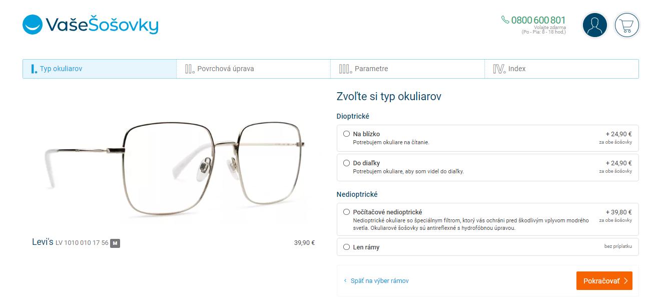 ako nakupovať okuliare online na VašeŠošovky