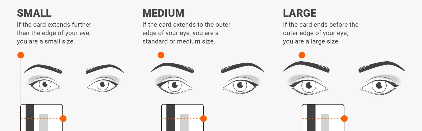 how to read sunglasses measurements - Measure sunglasses size with a credit card